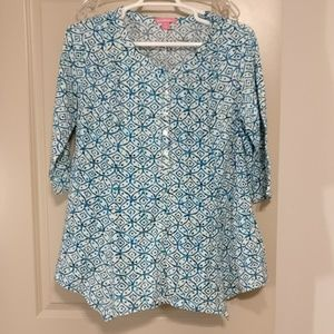 Woman Within size 18 3/4 length sleeve blouse